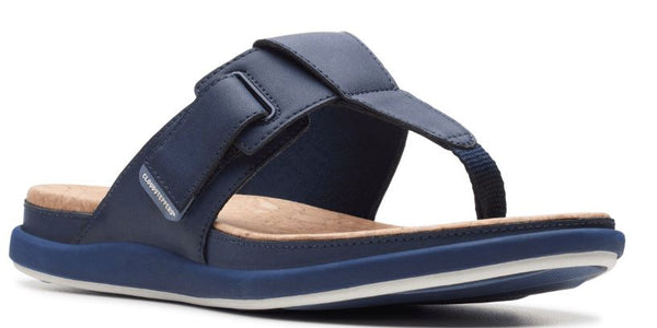 CLOUDSTEPPERS by Clarks Thong Sandals Step June Reef Navy - NEW