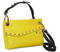 "Oryany Valentina Leather CrossBody Bag 26""Strap Gold Studs Yellow - NEW"