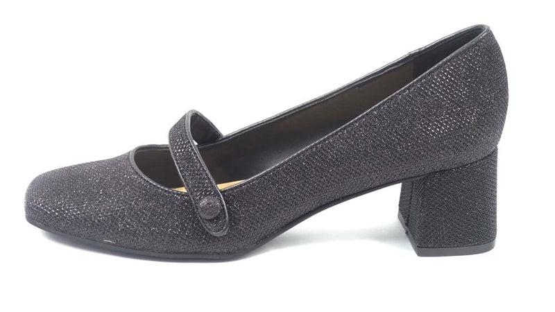 Isaac Mizrahi Live! Glitter Mary Jane Dress Pumps Black - A