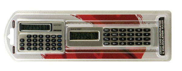 Sentry CAPD4 2-Pack Ruler Calculator and Credit Card Calculator