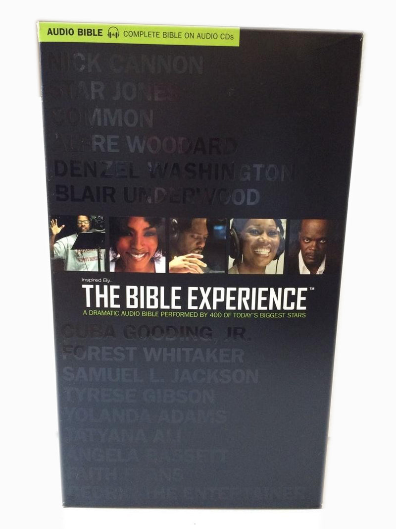 The Bible Experience Complete Bible on CD and DVD - NEW
