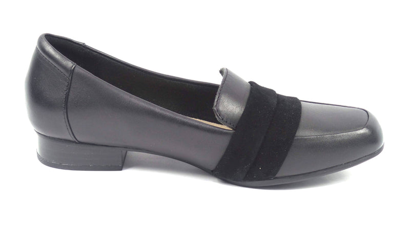 Clarks Collection Leather Slip-On Loafers Juliet Rose Black - A