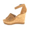 Marc Fisher Suede Ankle Strap Wedges Hillana Brown - NEW