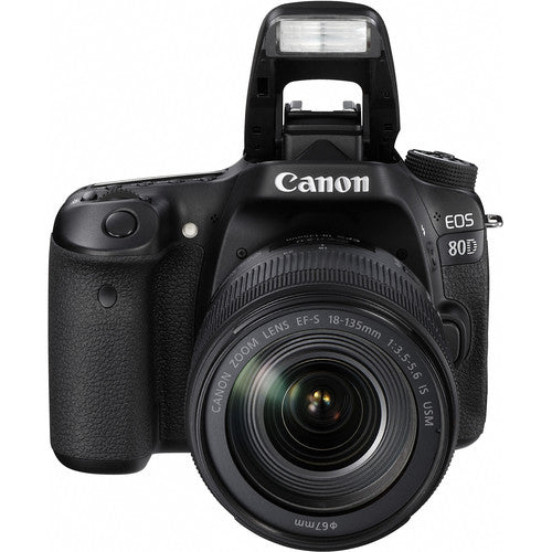 Canon EOS 80D DSLR Camera with 18-55mm IS STM Lens Black - B