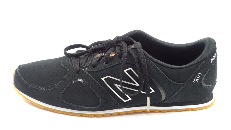 New Balance x Isaac Mizrahi Live Suede Lace-Up Sneakers 560 Black - A