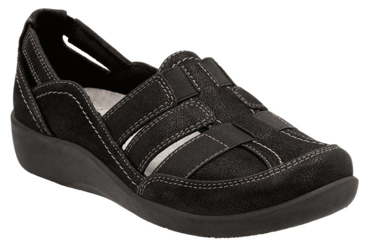 CLOUDSTEPPERS by Clarks Slip-on Shoes Sillian Stork Black - A
