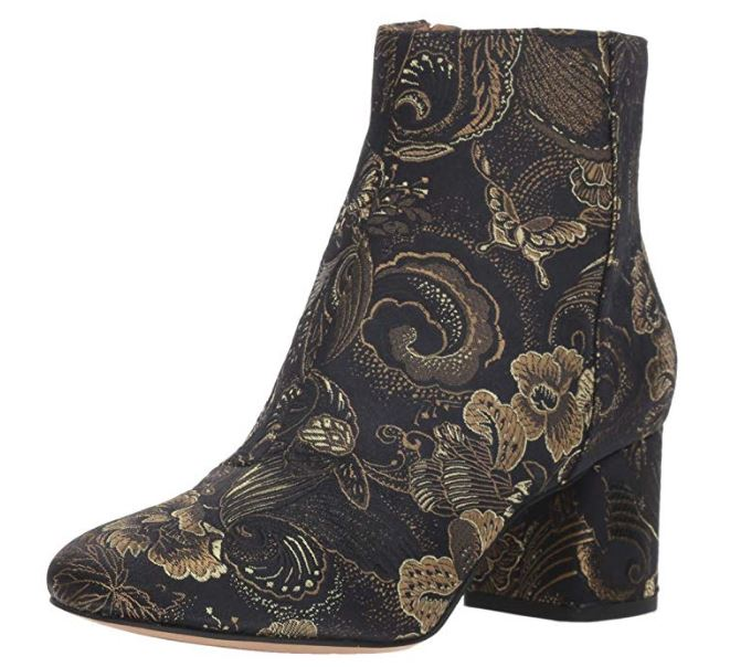 Franco Sarto Brocade Ankle Boots Jubilee Black/Green - A