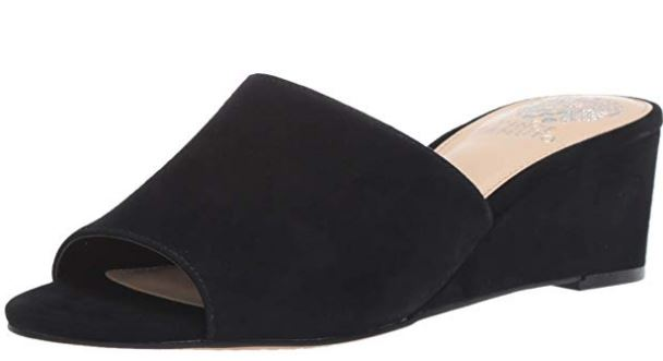 Vince Camuto Demi-Wedge Slide Sandals Stephena Black - NEW