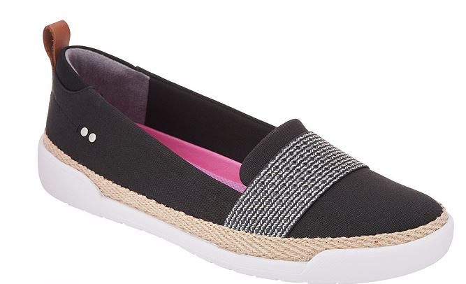 Ryka Canvas Slip-On Shoes Opal Black - NEW