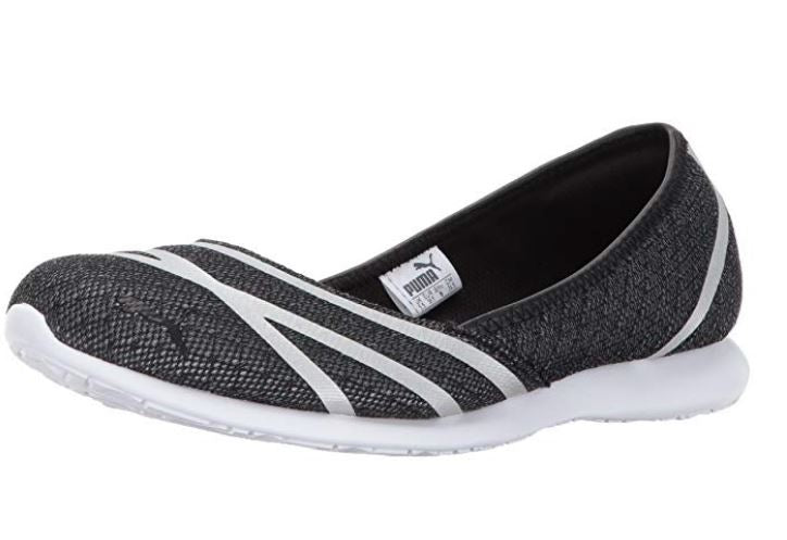 PUMA Mesh Slip-On Ballet Sneakers Vega Ballet Mesh Grey Violet - NEW
