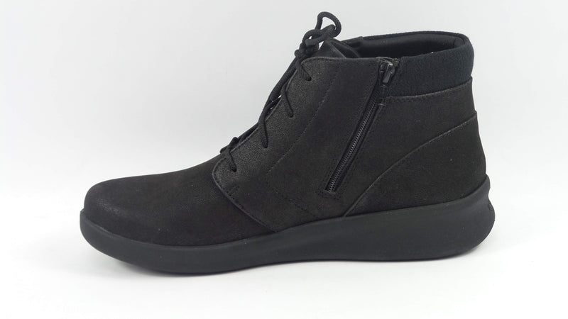 CLOUDSTEPPERS by Clarks LaceUp Ankle Boots Sillian 2.0 Way Black - NEW