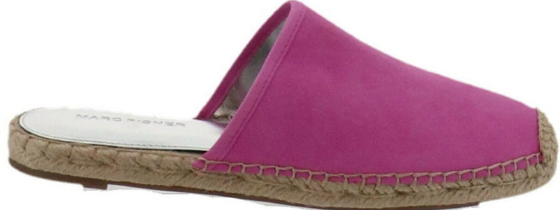 Marc Fisher Suede Espadrille Mules Gift Medium Pink - NEW