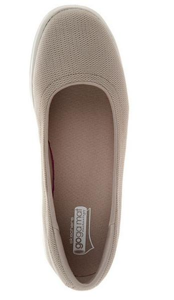 Skechers GO STEP Mesh Ballet Slip-On Shoes Luxe Taupe - A