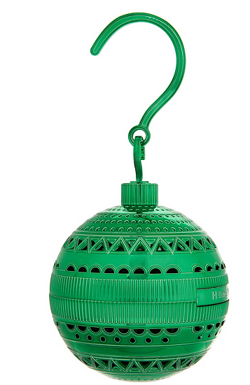HomeWorx by Harry Slatkin TreeWorx Ornament Ball w/4 Gelables Green - NEW