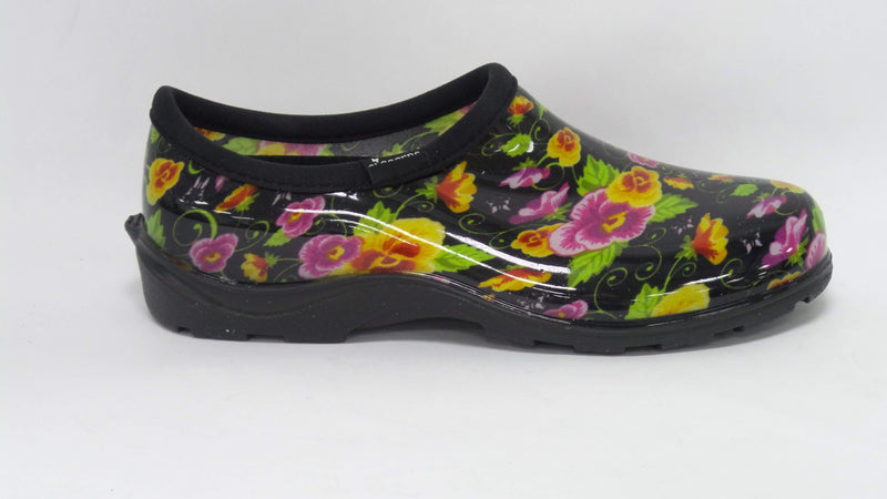 Sloggers Waterproof Pansy Garden Shoe Comfort Insole Black - NEW