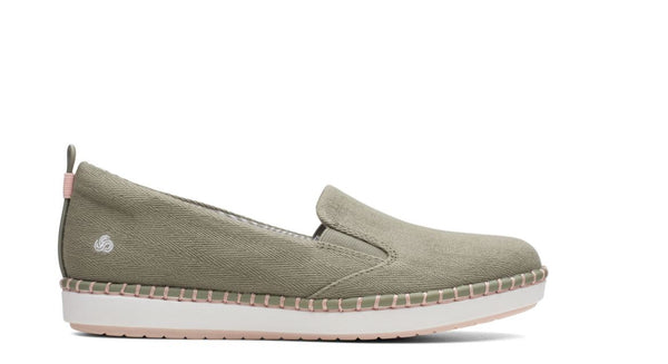 CLOUDSTEPPERS by Clarks Slip-On Shoes- Step Glow Slip Dusty Olive - NEW