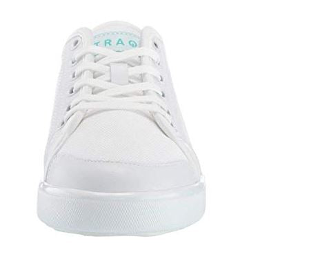 TRAQ by Alegria Lace-Up Casual Sneakers Sneaq White - NEW