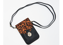 Everyday Essential Purse w/Cell Phone Touch by Lori Greiner Leopard - NEW
