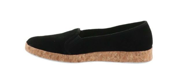 Isaac Mizrahi Live Perforated Suede Slip-On Cork Sneakers Black - A
