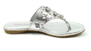 Marc Fisher Thong Sandals w/ Jewel Accents Gissel Silver - NEW