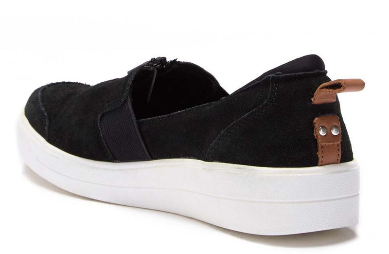 Ryka Stain Resistant Suede Slip-On Shoes Vivvi Black - A