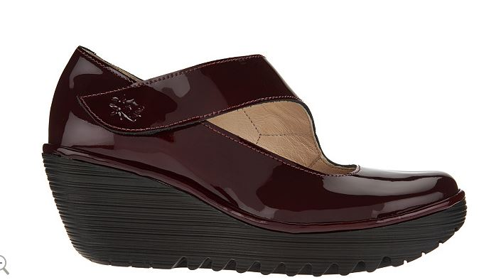 FLY London Leather Mary Janes - Yasi Burgundy - NEW