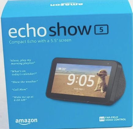 Amazon Echo Show 5 Displays with Video Chat Black - NEW