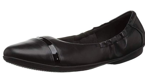 Clarks Collection Leather or Suede Flats Gracelin Jenny Black - NEW