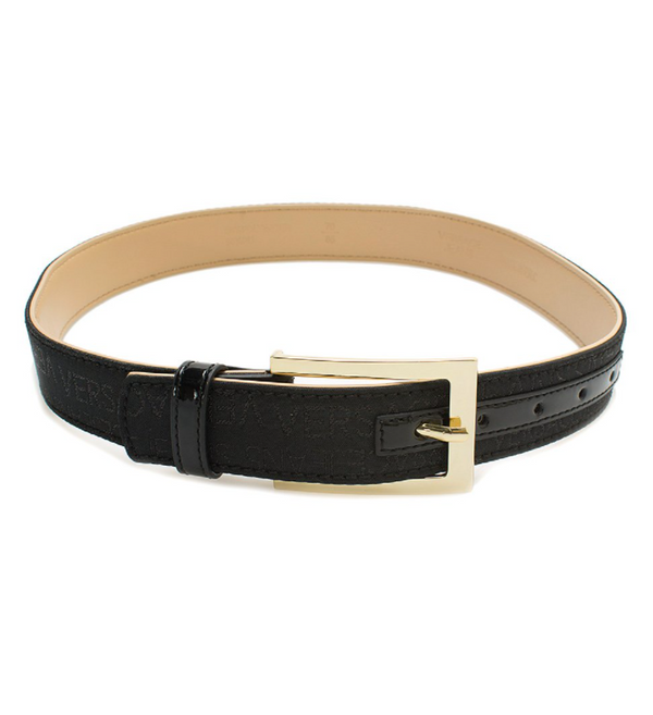 Versace Jeans Collection Black & Gold Leather Belt TG 75 - NEW
