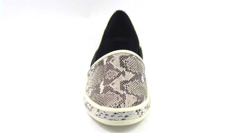 LOGO by Lori Goldstein Mixed Media Sneaker with Goring Snake - NEW
