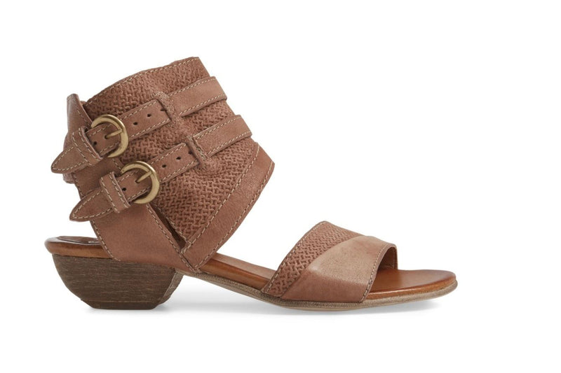 Miz Mooz Leather Double Buckle Sandals Cyrus Blush  - NEW