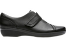Clarks Collection Leather Monk Strap Shoes Everlay Dixie Black - NEW