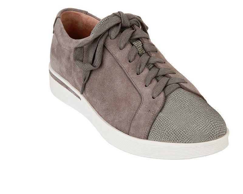 Gentle Souls Leather Lace-up Sneakers Haddie Concrete - A