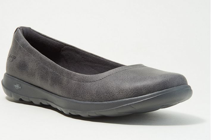 Skechers GO Walk Lite Slip-On Shoes Gem Charcoal - NEW