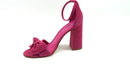 Marc Fisher Ankle Strap Bow Pumps Malden Dark Pink - A