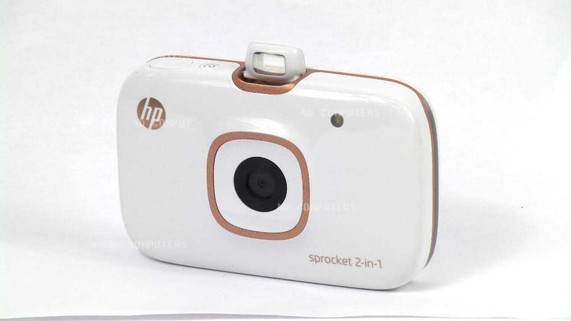 HP Sprocket 2FB96A 2-in-1 Portable Instant Camera and Printer White - A