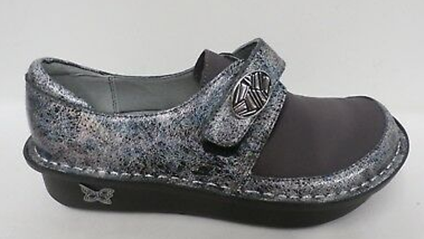 Alegria Dream Fit Leather and Neoprene Slip ons Dena Ice Ice Baby - A