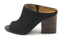 Franco Sarto Women's Firefly Suede Heeled Sandal Black - NEW