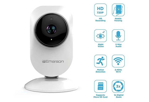 Emerson Indoor Wifi Stick-Up Security Camera ER108003 - A