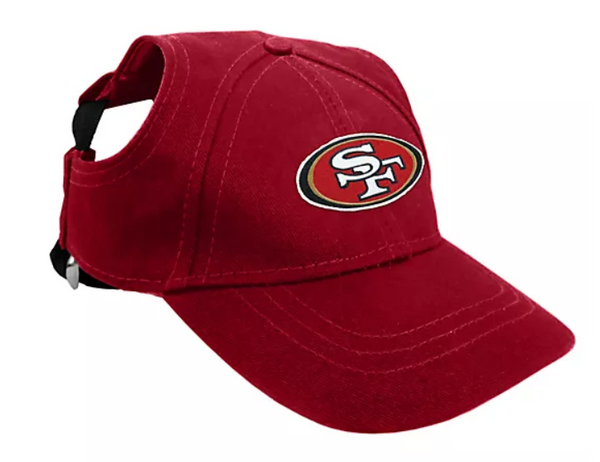 NFL Pet Baseball Hat 49ers Red - NEW