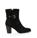 Koolaburra by UGG Suede Buckle Ankle Boots Samiah Black - NEW