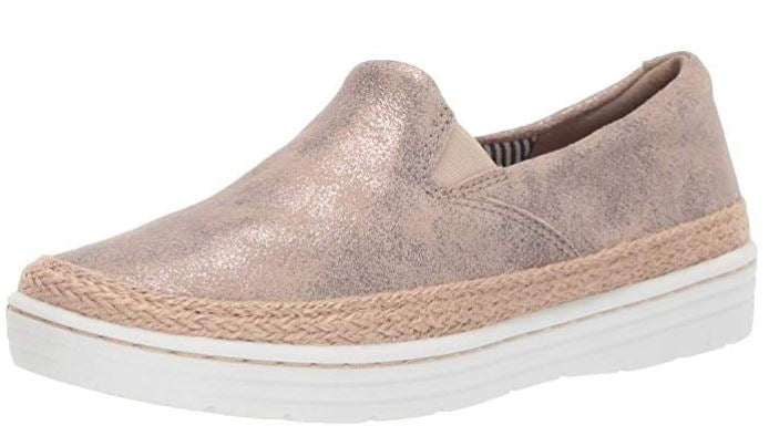 Clarks Collection Leather Slip-On Loafers Marie Pearl Pewter - A