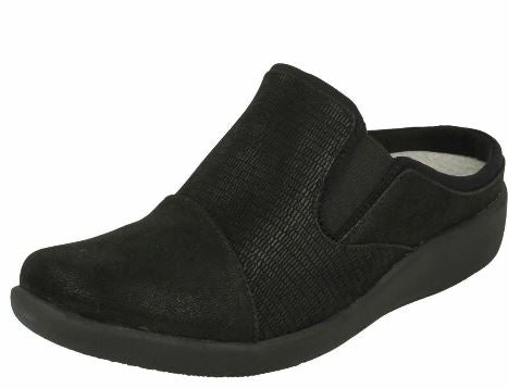 CLOUDSTEPPERS by Clarks Slip-On Clogs Sillian Free Black - NEW