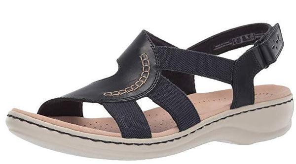 Clarks Collection Backstrap Sandals Leisa Joy Black - A
