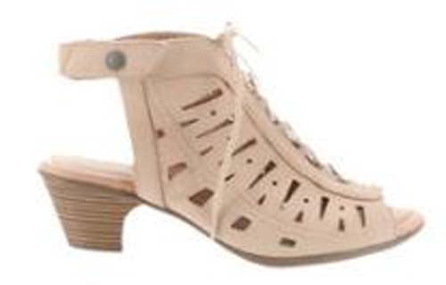 Earth Nubuck Leather Lace-Up Sandals Kristen Nude - NEW