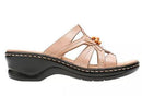 Clarks Leather Slides with Bead Detail Lexi Myrtle Denim Sand  - NEW