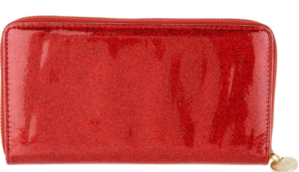 Kirks Folly Glitter Goddess Zippered Wallet Red - NEW