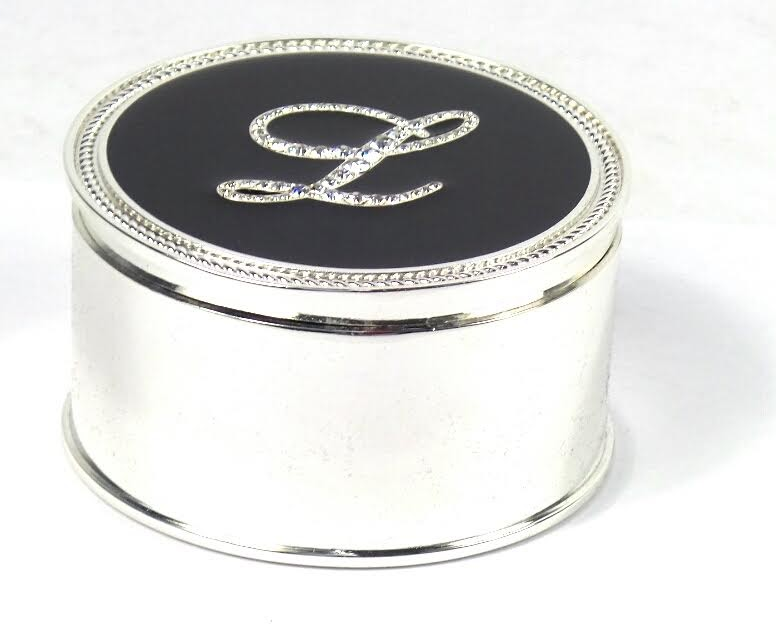 Safekeeper Initial Jewelry Box with Rope Trim by Lori Greiner - NEW