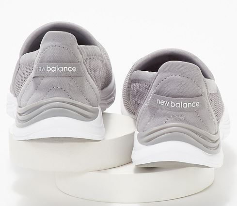 New Balance x Isaac Mizrahi Live! Slip-On Sneakers 260 Light Grey - NEW