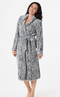 Casa Zeta-Jones Reversible Velvet Soft Rose Robe Suedish Grey - NEW